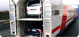 Autoverladung im Autoreiszug